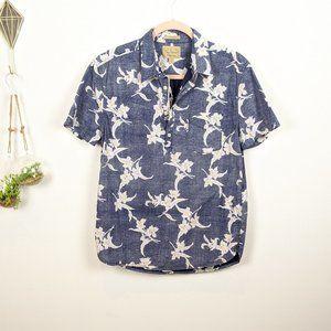 Lucky Brand button down popover T shirt polo